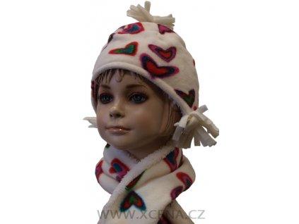 Dětská zimní čepice se šálou