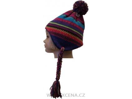Zimní teplá čepice
