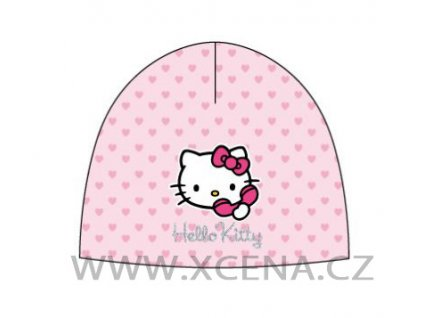 Hello Kitty čepice růžová