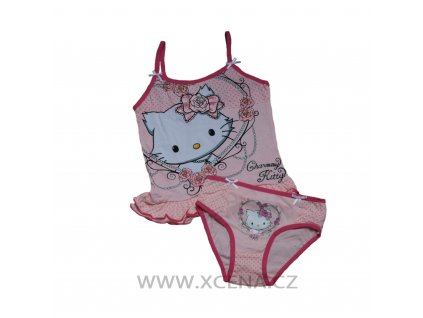 Charmen kitty tílko kalhotky růžové typ A