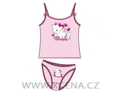 Charmen kitty tílko kalhotky světle růžové