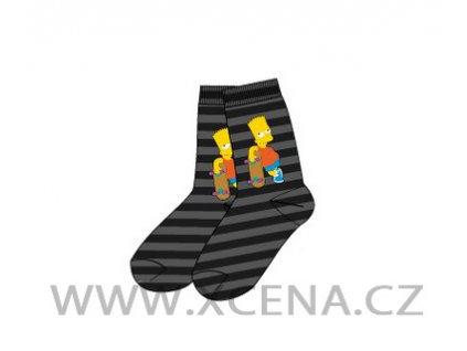 Bart Simpson ponožky šedé