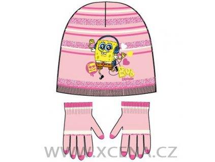 Sponge bob čepice rukavice
