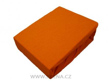 Prostěradlo bavlna oranžové typ 200/220 cm