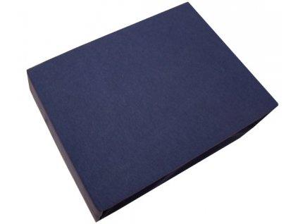 Prostěradla z bavlny 200/220 cm tmavě modré