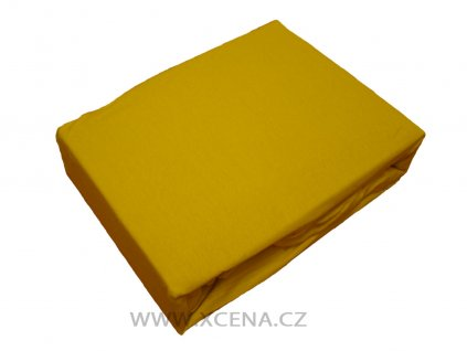 Prostěradlo bavlna žluté 160x200 cm