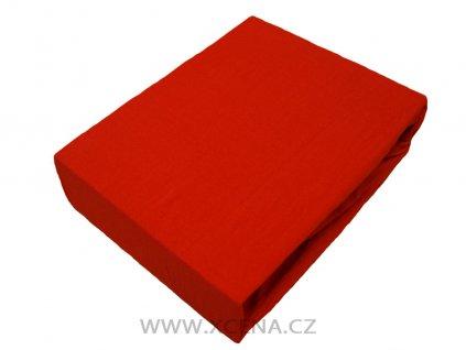 Bavlněná prostěradla červená 160x200