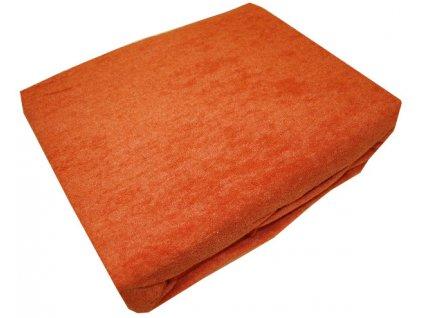 Prostěradlo froté oranžové 160/200