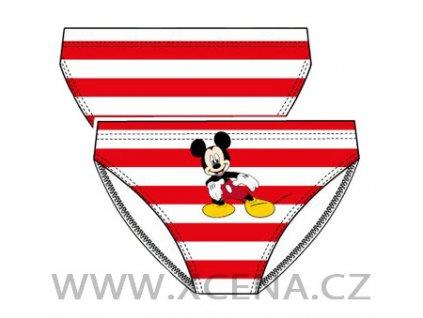 chlapecké plavky Mickey bílé s pruhy