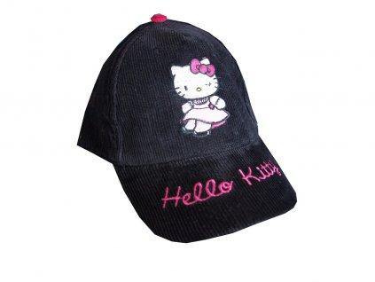 Čepice s kšiltem Hello Kitty černá typ A1