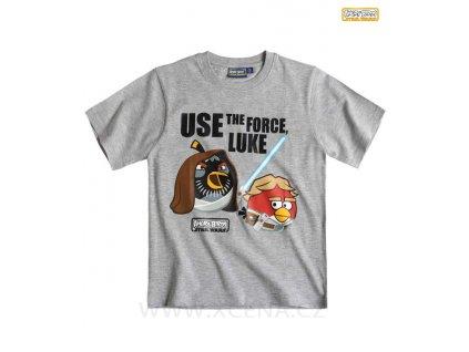 Angry Birds tričko šedé model A