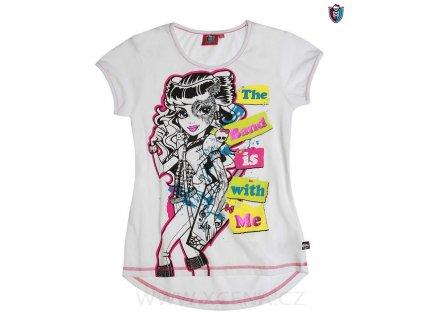 Monster High tričko bílé krátký rukáv