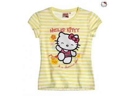 Hello Kitty trička žluté s proužky