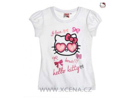 Dívčí tričko Hello Kitty bílé