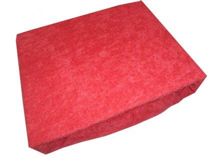 Froté prostěradlo červené 140x200cm