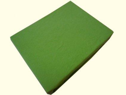 Bavlněné prostěradlo hráškově zelené 160x200cm