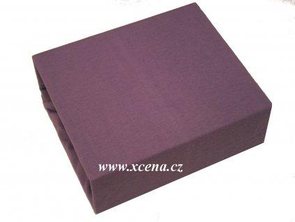 Bavlněné prostěradlo do postýlky fialové 60x120cm
