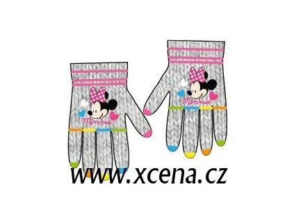Minnie rukavice světle šedé