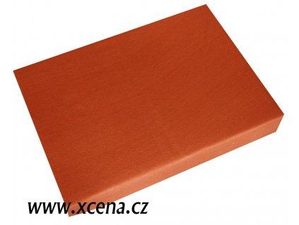 Prostěradlo bavlněné oranžové 90x200cm