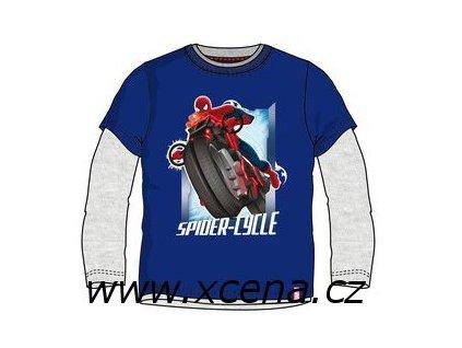 Tričko spiderman modrošedé