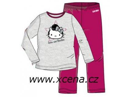 Pyžamo Hello Kitty šedé