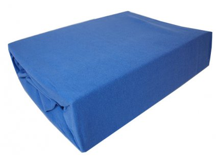 Bavlněné prostěradlo tmavě modrá 140x200