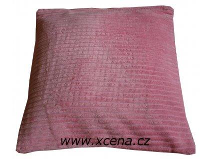 Semišový povlak růžový 40x40