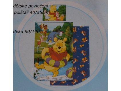 Povlečení bavlněné medvídek Pooh 140/90 40/55