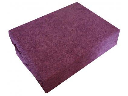 Froté prostěradla typ 200/220 cm světle fialová