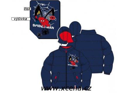 Spiderman bunda modrá