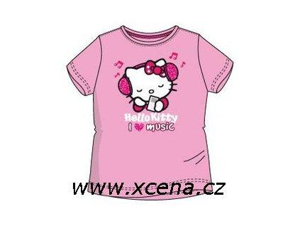 Hello Kitty tričko dívčí světle růžové