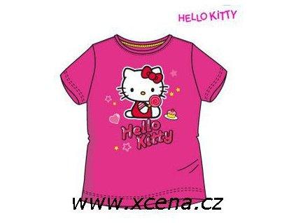 Hello Kitty tričko dívčí tmavě růžové