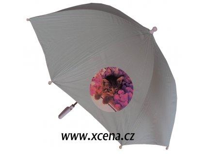 Deštník dívčí světle zelenkavý