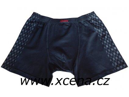 Boxerky pánské s delší nohavičkou černé