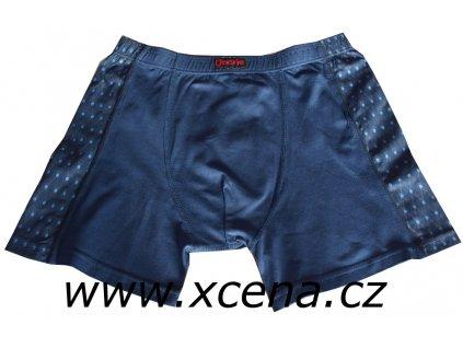 Boxerky pánské modré s delší nohavičkou