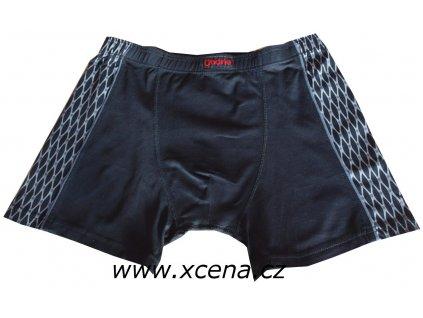 Boxerky pánské černé s delší nohavičkou