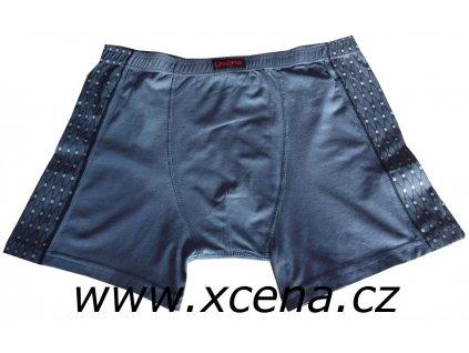 Boxerky pánské šedé s delší nohavičkou