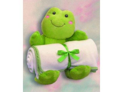 Hračka plyšová žabka s dekou