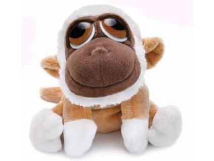 Opička plyšová hnědobílá