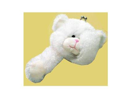 Peněženka plyšová medvídek bílý