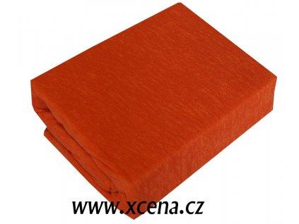 Froté prostěradla tmavě oranžová typ 180/200 cm