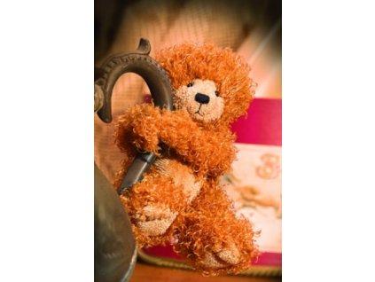 Medvídek zlatý kadeřavý s magnetkou