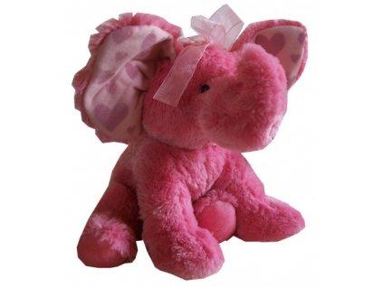 Hračka plyšová slon růžový