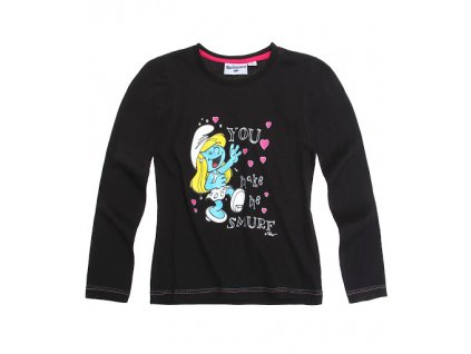 Smurfs šmoula tričko černé