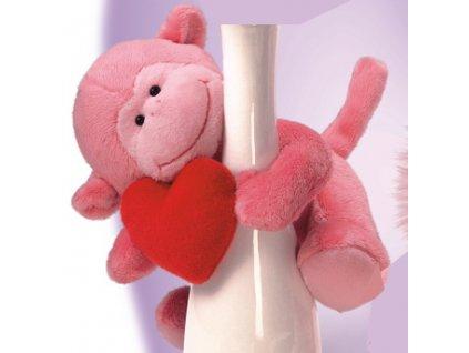 Opička růžová se srdíčkem