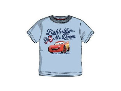 Cars Auta tričko světle modré