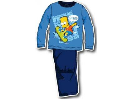 Bart Simpson pyžama modré