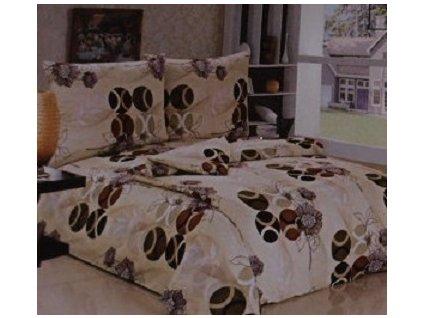 Povlečení bavlna 140x200cm, 70x90cm hnědé