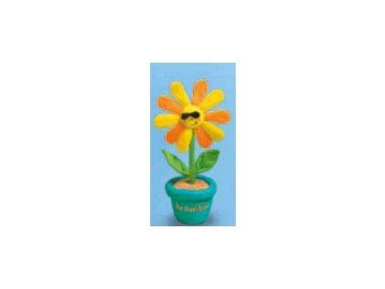 Květináč tyrkysový s brýlemi