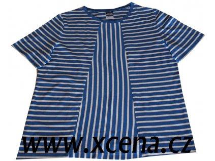 Dámské trička s pruhy modré
